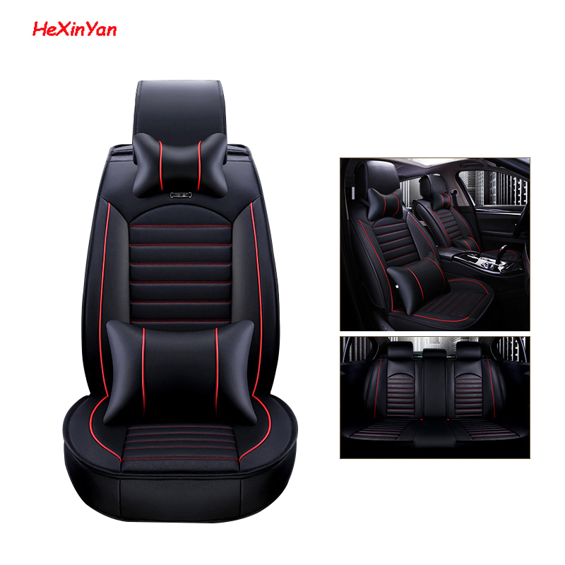 HeXinYan Leather Universal Car Seat Covers for Volkswagen all models polo passat B5 B6 golf 4