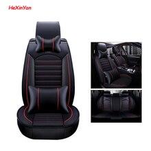 цены HeXinYan Leather Universal Car Seat Covers for Volkswagen all models polo passat B5 B6 golf 4 tiguan Passat Phaeton auto styling