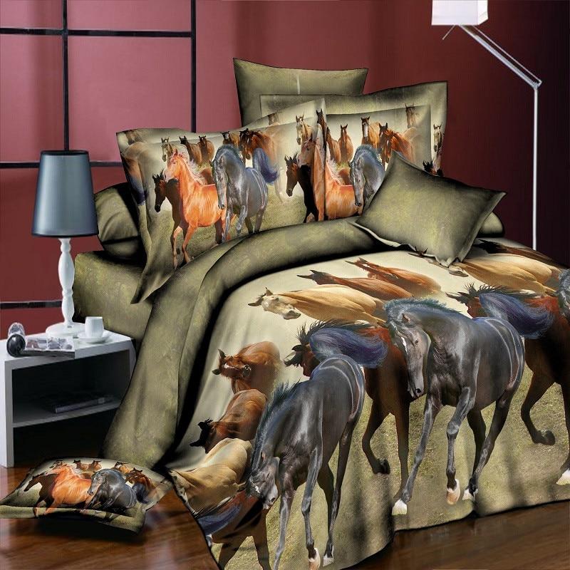 3d Panda Paard Wolf Kat Rode Roos Bloem Bed Set Beddengoed King Dier Kussensloop Geometrische Bedling Set Vlinder Geel Textiel Wees Onthouden In Geldzaken