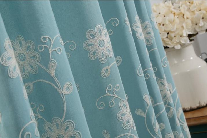 Ikea Verduisterend Gordijn : Meisjes slaapkamer gordijn katoenen geborduurde venster gordijnen