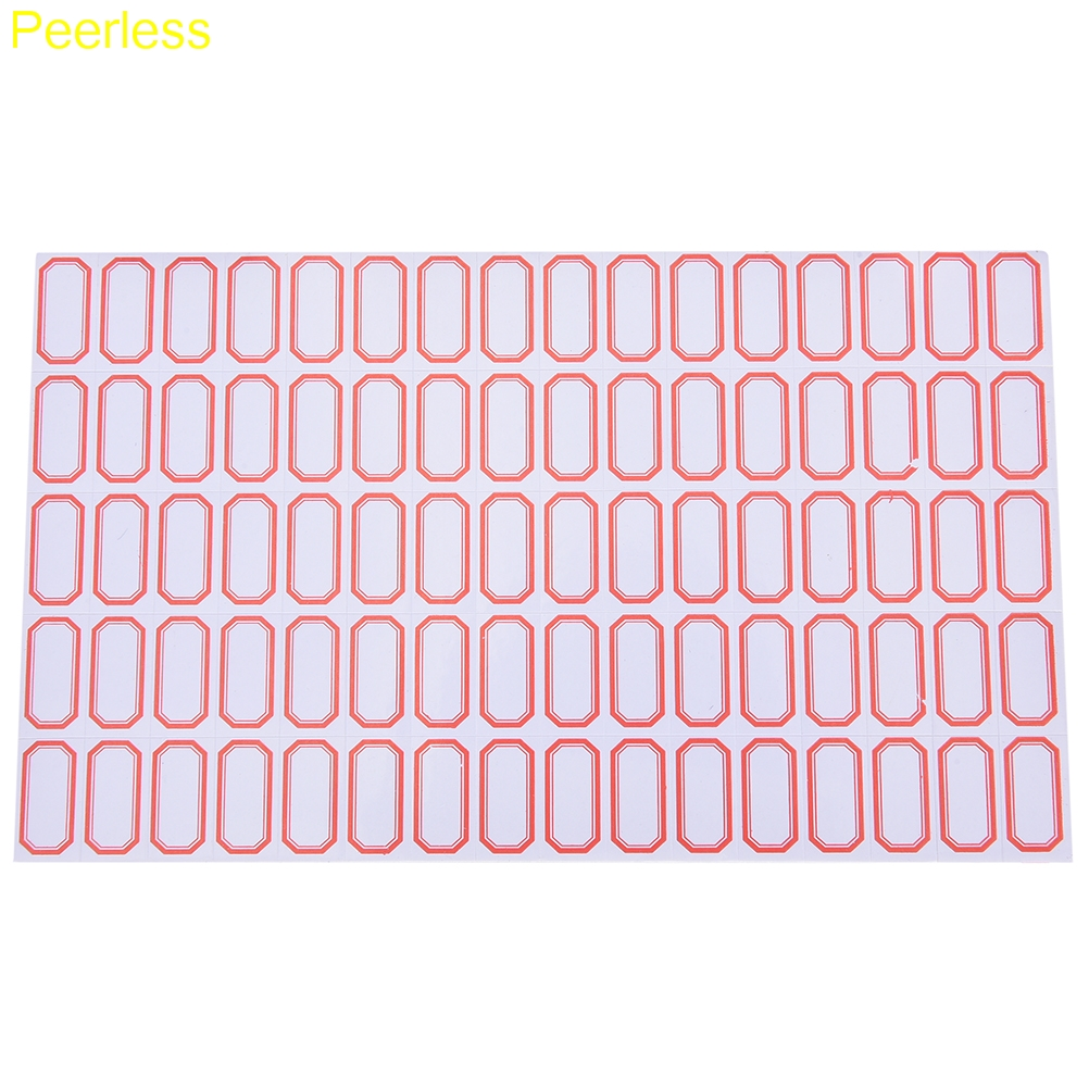peerless 60sheets/4800pcs 12mm x 23 mm mini blank label plain white