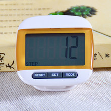1 pcs Orange Mini LCD Pedometer Calorie Walking Distance Calculation Digital Counter Sports Accessories 2016 Hot Sale