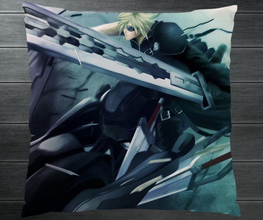 Final Fantasy Vii Ff7 Cloud Strife Fanart Two Side Pillowcase 40cm Pillow Case Cover Cosplay Anime Otaku Gift Bed Sofa Car Decor