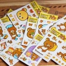 10pcs/lot Cute Rilakkuma Stickers For diary Kawaii Stickers For Children Korean Stationery Novelty Gift GT248