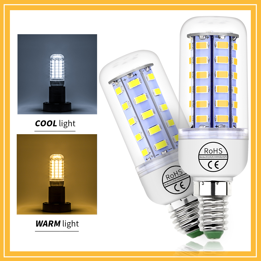 CanLing GU10 220V LED Lamp E27 230V LED Bulb E14 240V LED Corn Light 5730SMD 24 36 48 56 69 72leds Home Energy Saving Light Bulb e27 4w 65 led 420 lumen 6500k white energy saving led light bulb 220v