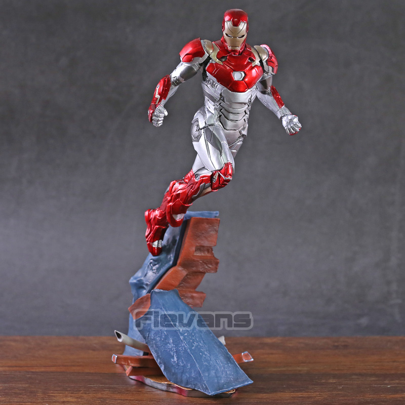 Iron Man Mark XLVII MK 47 1 10 Scale PVC Figure Collectible Model Toy