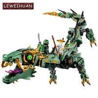 568pcs Ninjago Set Green Ninja Mech Dragon Lloyd Wu Garmadon Charlie Lepin Compatible With Legoe 2017