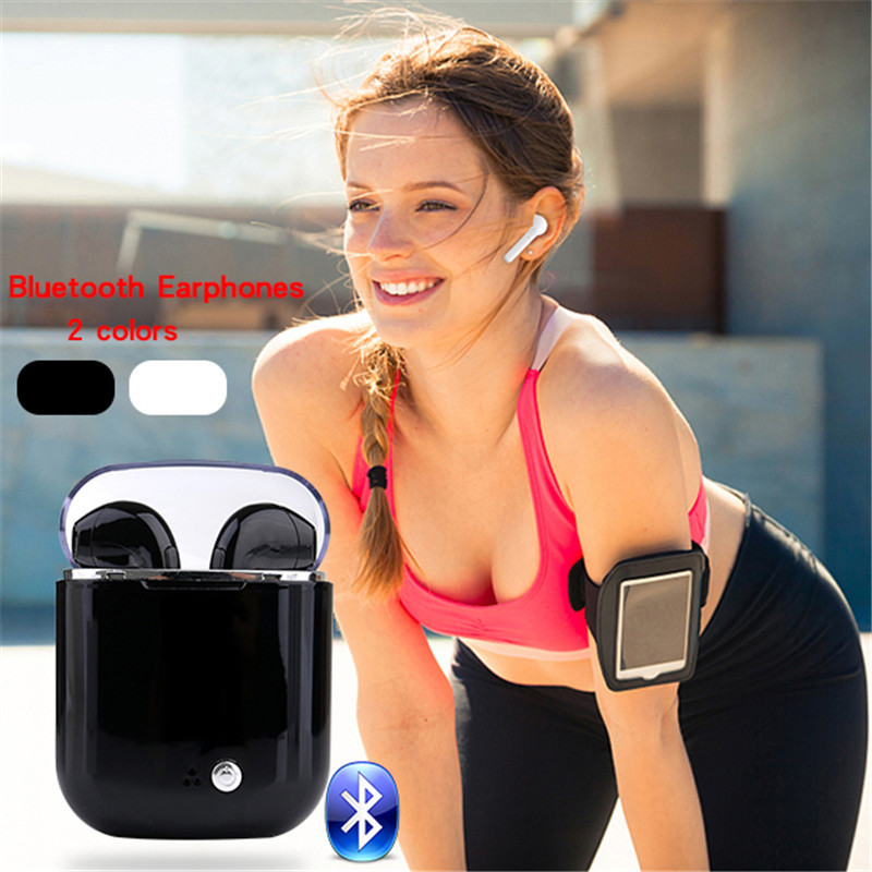 где купить i7S Wireless Bluetooth Stereo Sports Headsets In-ear Earphones for Android IOS Smartphone TWS Wireless Earbuds with Charging Box по лучшей цене