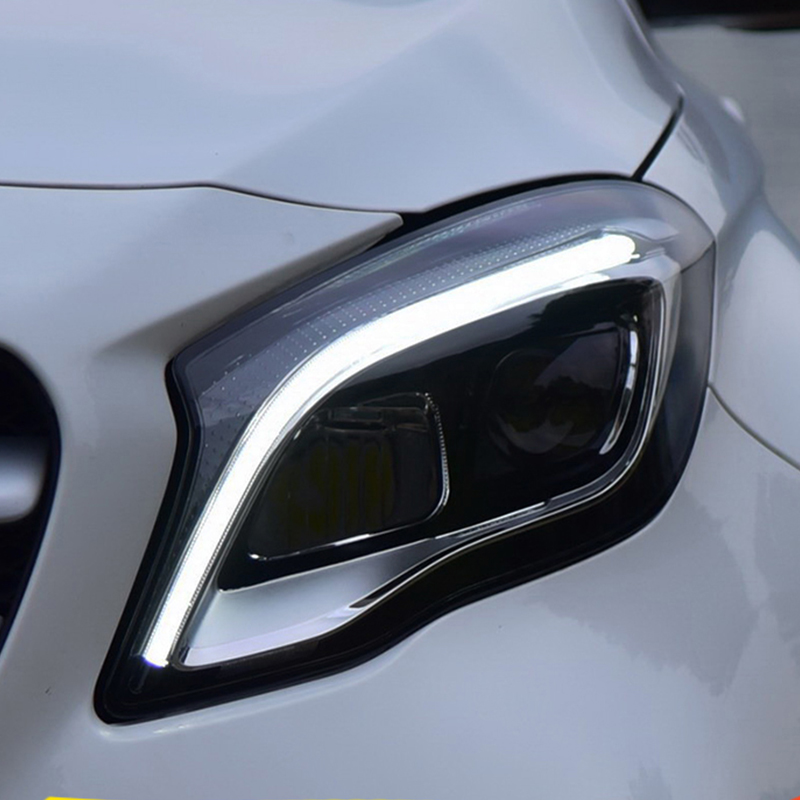 Car Styling for Benz GLA Headlights 2017-2019 LED Headlight Lens Double Beam H7 HID Xenon bi xenon lens day time running