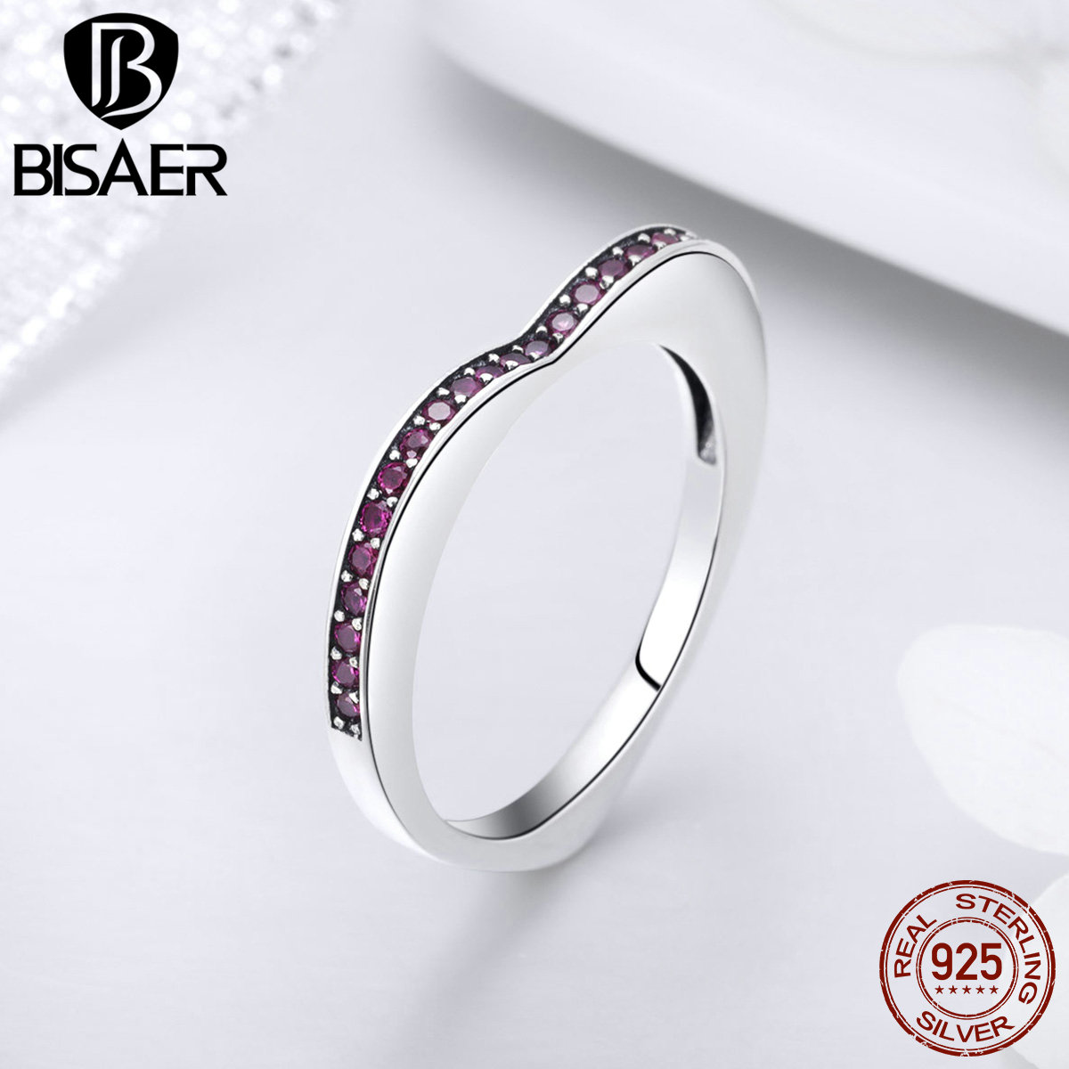 Bisaer 925 Sterling Silver Simple