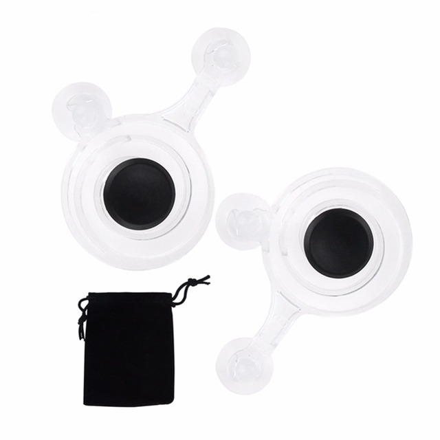 2pcs/pack Touch Screen Joystick Mobile Phone Game Joystick with Cloth Bag Paper Box for Phone Tablet Arcade Games Transparent