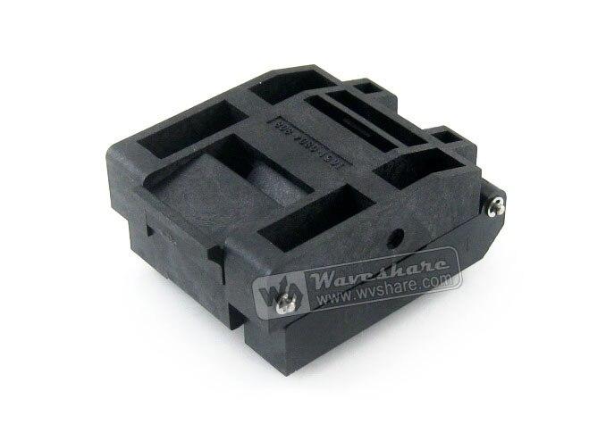 module IC51-0804-808-14 Yamaichi IC Test Socket 0.5mm Pitch QFP80 TQFP80 FQFP80 PQFP80 package module stm32 qfp176 lqfp176 0 5mm pitch yamaichi socket ic51 1764 1505 5 designed for stm32 mcu supports jtag swd usart serial p