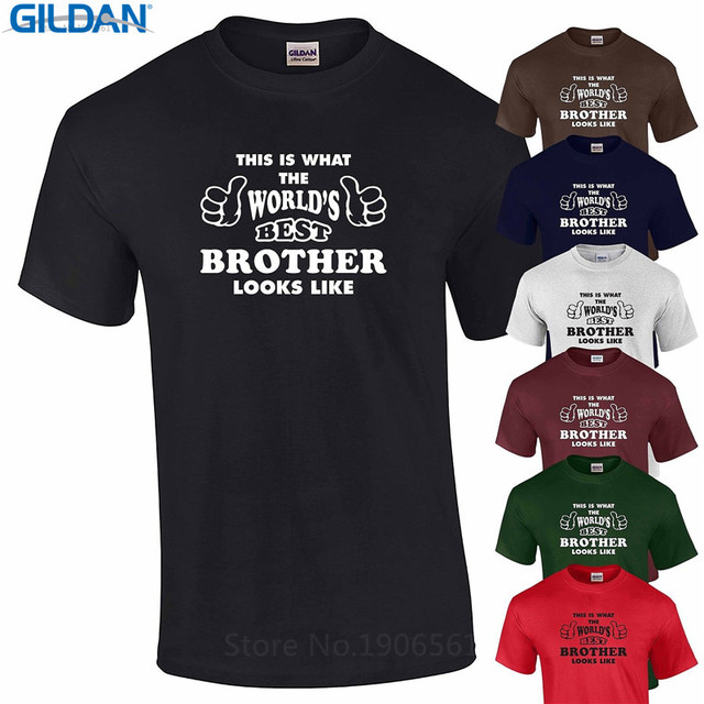 Online Sale Design Worlds Best Brother Birthday Gift Present Sibling Family S Xxxl Crew Neck Short Sleeve Mens T Shirts