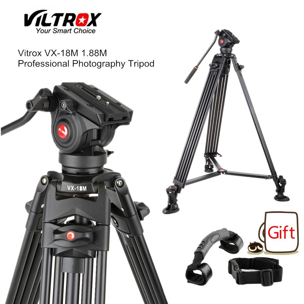 Viltrox VX-18M 1.8 m Professionnel Portable Heavy Duty Stable En Aluminium Non-slip Vidéo + Trépied Hydraulique tête pour Vidéo caméra DV