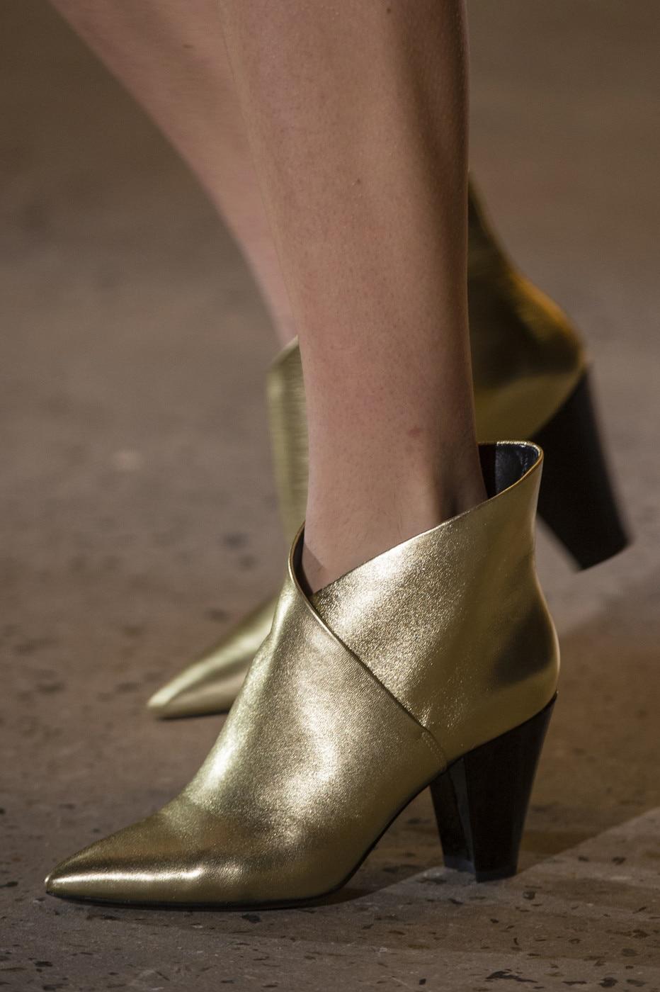 Parti Hauts Réel Taille Chaussures Piste Banquet As Bottes Chaussons 42 Cales Pic Talons Pointu as Cuir Cheville Vichy Grande À Bout Imprimer Pic En Femme pFx7ZfqF