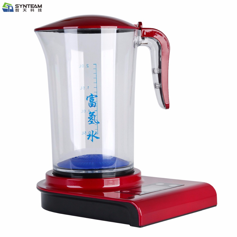 2.0L Large Hydrogen Water Maker Pitcher Alkaline Water Ionizer Hydrogen Generator HEALTH CARE PRODUCT Anti Aging hydrogen water generator hydrogen water maker alkaline water ionizer kettle 2000ml health care product 100 240v