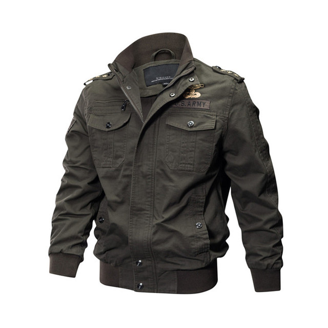 MORUANCLE Mens Casual Cargo Jackets Military Style Flight Bomber Jacket And Coat For Man Outerwear Plus Size M-5XL Stand Collar