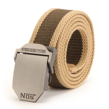 Smooth Buckle Canvas Belt