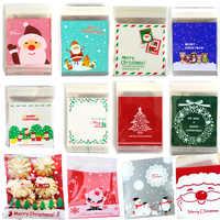 25 teile/los Nette Cartoon Geschenke Taschen Weihnachten Cookie Verpackung Selbst klebenden Kunststoff Taschen Für Kekse Geburtstag Süßigkeiten Kuchen Paket