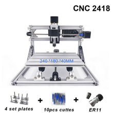 CNC2418 with ER11,CNC Engraving Machine,Pcb Milling Machine,Wood Carving Machine,Mini cnc Router,Wood Router,Best Advanced Toys mini atc 3d engraving cnc router machine 3d cnc jewelry cnc router milling machine with tool changer 6090 6040 6012