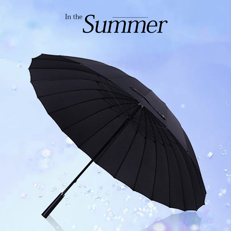Long Handle Umbrella Male Female 105-111cm 24K Large Umbrella Windproof Man Woman Waterproof For Sunny And Rain