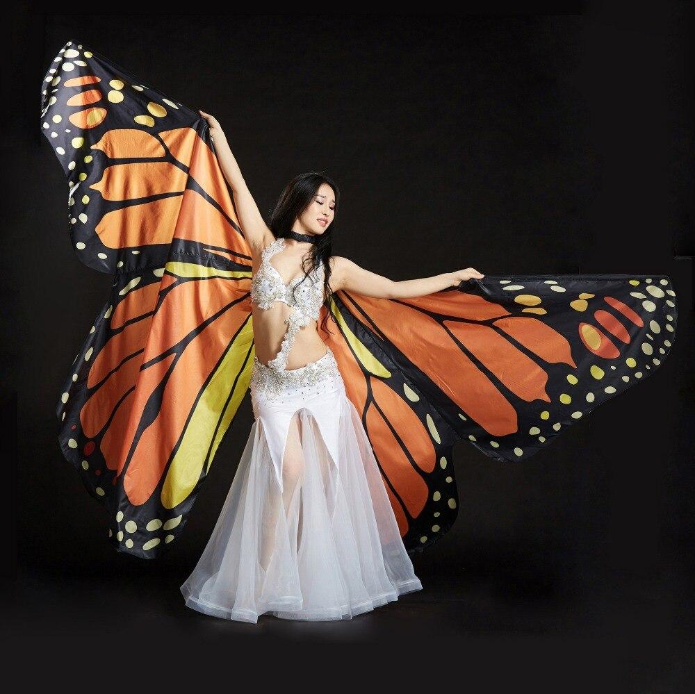 Butterfly Belly Dance Costume 360 Isis Wings Egyptian Dance Wear Women Cape Cloak Dance Fairy Wing