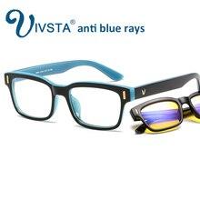 IVSTA anti blue rays computer Glasses Men Blue Light Coating Gaming Glasses for computer protection eye Retro Spectacles Women V