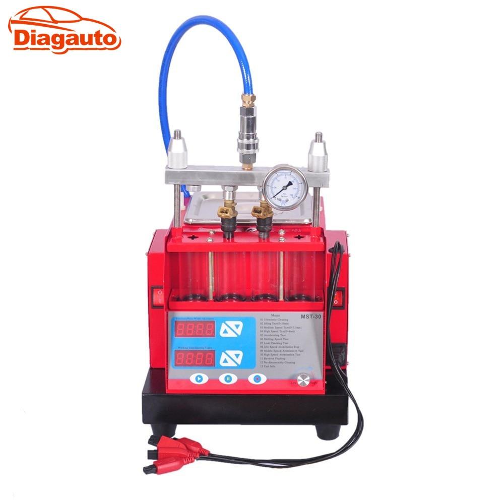 Цена за Бесплатная доставка DHL Высокая производительность топливной форсунки чище и тестер с MST-30 насос ультразвуковой очистки Встроенный 4 цилиндров ультразвуковой