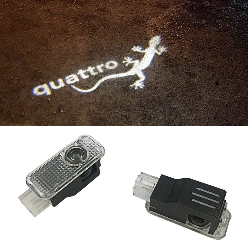 2x LED Door Warning Light With Sline Logo Projector For Audi A5 A6L A6 C5 A4L A4 B6 B8 A1 A8 TT Q7 Q5 Q3 A3 R8 quattro