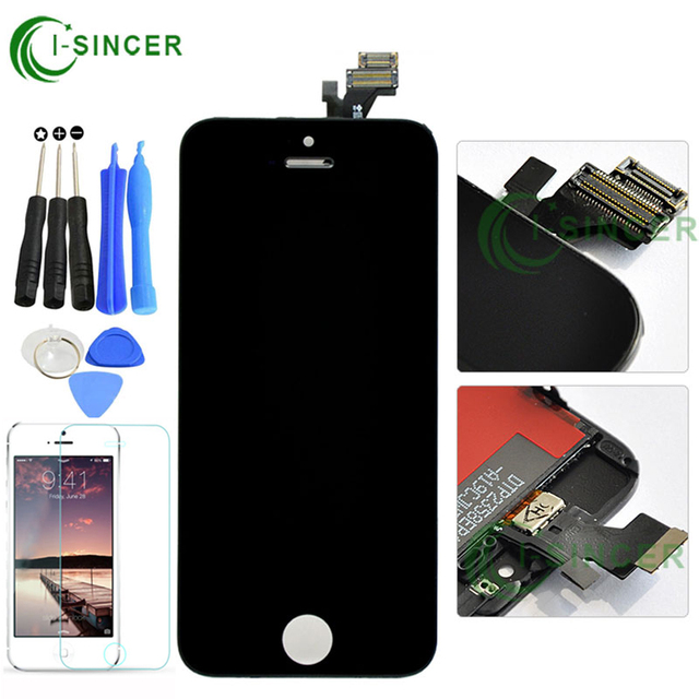High Quality No Dead Pixel For Apple iPhone 5S 5G 5C LCD Display with Touch Screen Digitizer Assembly Replacement Free Shipping