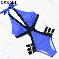 OMKAGI Brand Swimwear Women One Piece Swimsuit Sexy Bodysuit Monokini Push Up Bathing Suit Summer Beachwear