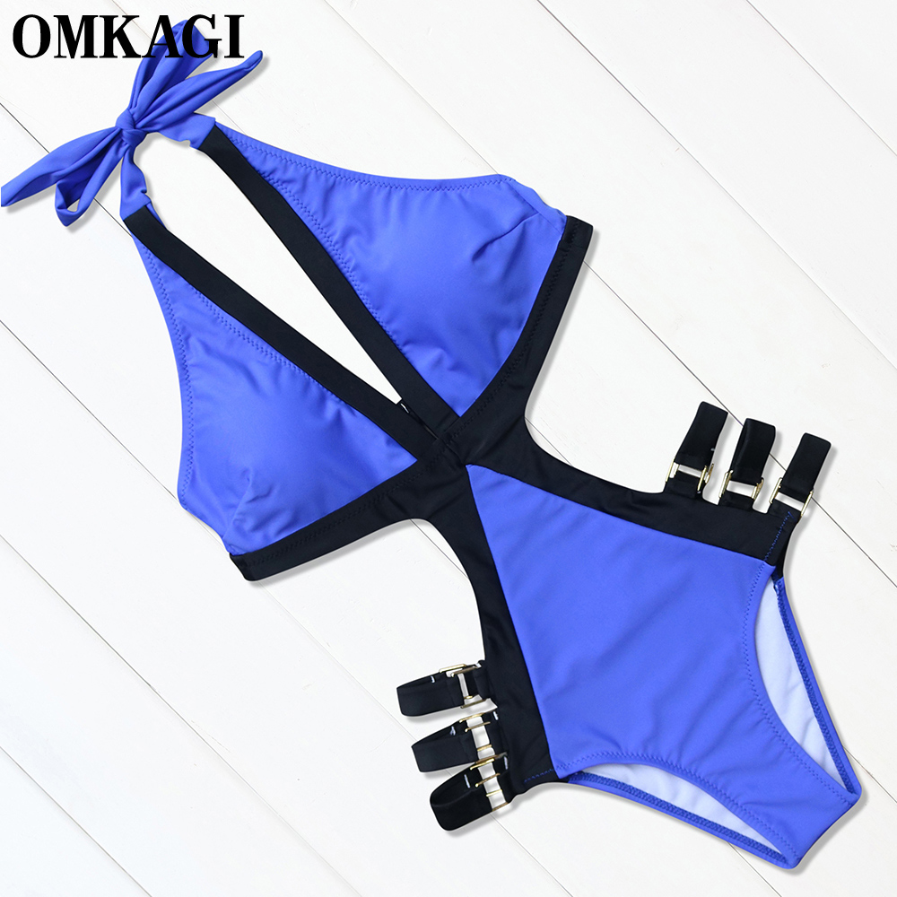 OMKAGI Brand Swimwear Women One Piece Swimsuit Sexy Bodysuit Monokini Push Up Bathing Suit Summer Beachwear 2017 Swim Suit xxxl one piece swimsuit push up plus size swimwear famale 2017 black backless bodysuit summer beachwear bathing suits monokini