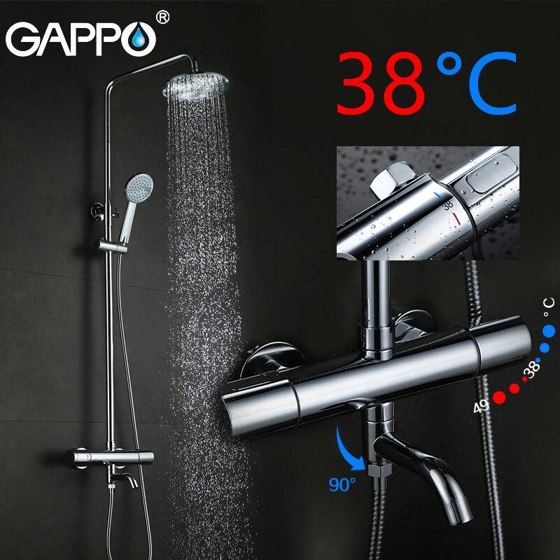 Beliebte Marke Gappo Badewanne Armaturen Thermostat Misch Ventil Dusche Wasserhahn Bad Mischbatterie Regen Dusche Wasserfall Wasserhahn Bad Dusche Set Weitere Rabatte üBerraschungen