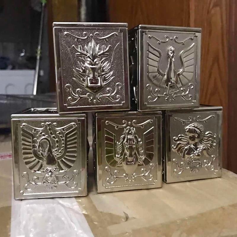 5pcs/set bronze Saint Seiya Myth Cloth Pandora Box the five bronze sanits  seiya Shiryu Hyoga Ikki Shun
