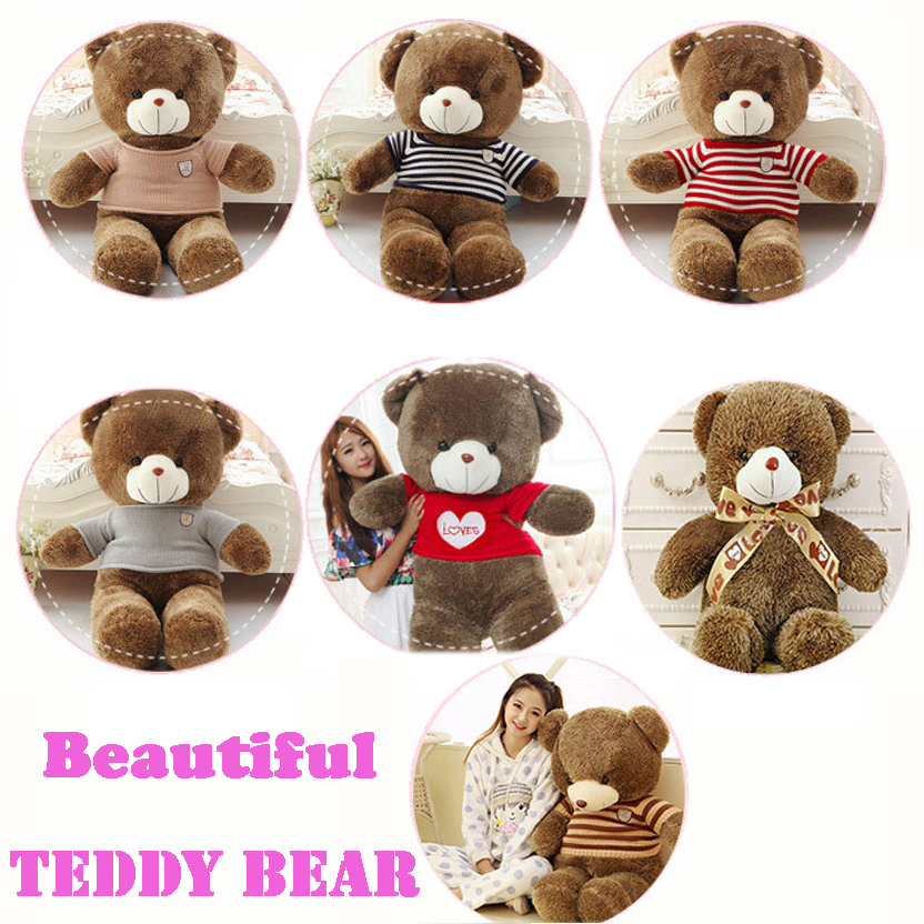 7 Style 60CM Teddy bear Kawaii Kids Bear Doll Big Soft Stuffed Toy Plush Giant Teddy Bear Children Christmas Gift