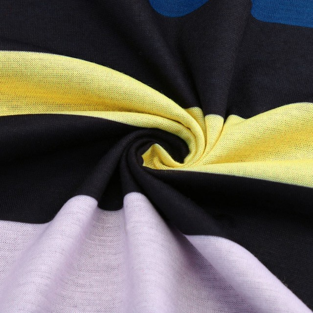 Long Sleeve Stripe Print T Shirt  4