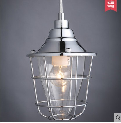 ФОТО Industrial designer loft retro wind small hob personality single head American Cafe Bar pendant light ZH