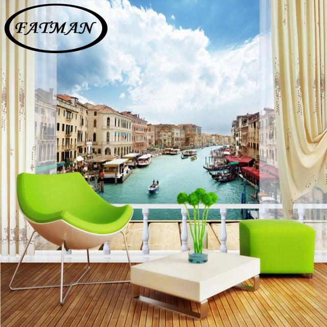 Fototapete Benutzerdefinierte Venedig 3D Landschaft Hintergrund Wand Wohnzimmer  Tapete Wandbild Schlafzimmer Dekoration Restaurant Mural