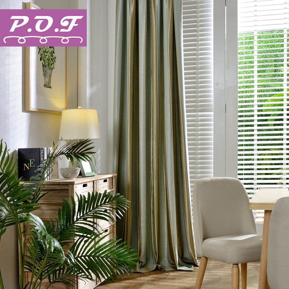 Byetee Modern Living Room Luxury Window Curtains Striped: P.O.F Modern Striped Blackout Curtains For Living Room