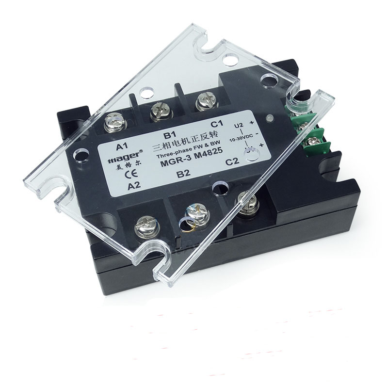 Фотография Free shipping 1pc MGR3 M4825 25A AC motor positive inversion solid state relay SSR 25A Relay motor