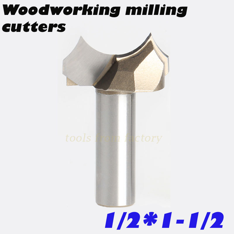 1pc 1/2*1-1/2 CNC woodworking carving tools milling cutter router bits for wood 1/2 SHK