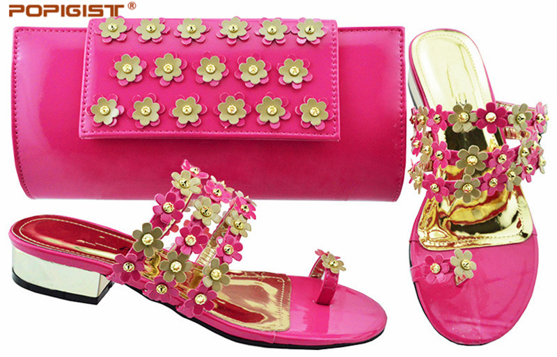 Fuchsia Und Low Pumps Tasche F Damen Afrikanische Kurzhackige Casual Schuhe sQrCtxhdB