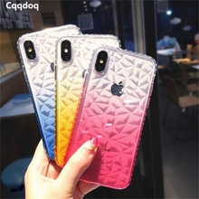 Cqqdoq Gradient Diamond Phone Case For iPhone 6 6s 7 8 Plus Soft TPU Protective Shell Cover For iPhone X XR XS MAX Cases Fundas cqqdoq gradient diamond phone case for iphone 6 6s 7 8 plus soft tpu protective shell cover for iphone x xr xs max cases fundas