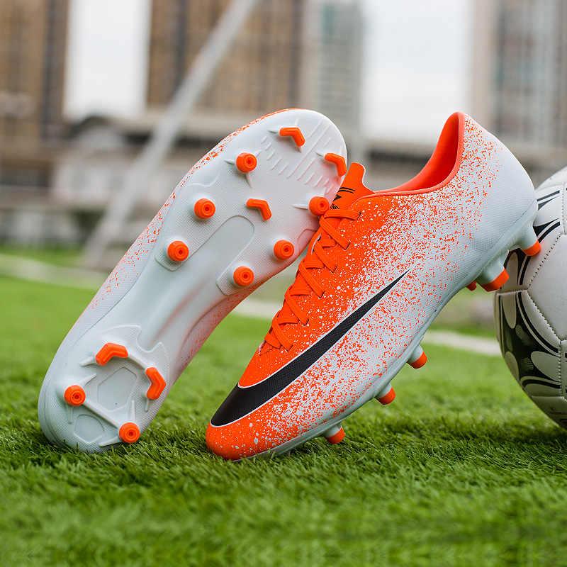 Zhenzu Sepak Bola Profesional Boots Pria Sepatu Sepak Bola Anak-anak Chuteira Futebol Zapatos De Futbol Panjang Paku Ukuran EUR 35-44