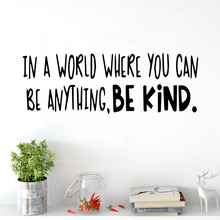 Positive Be Kind phrase Vinyl Wall Sticker For Office Rooms Decoration Frase Creative Stickers Art Decals