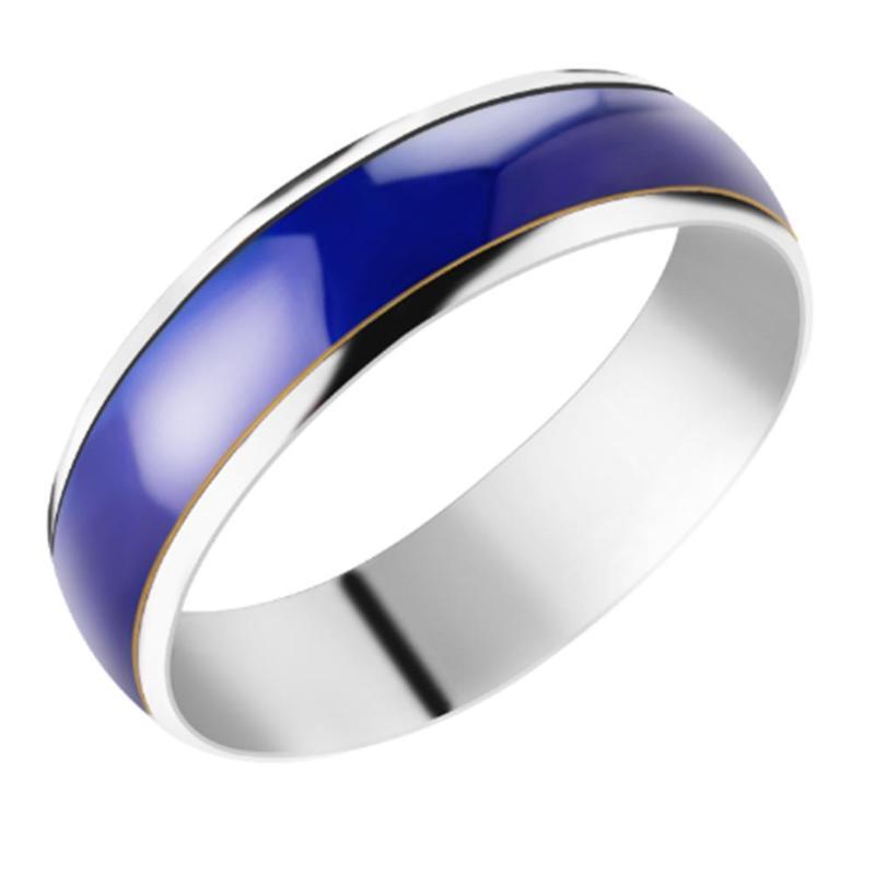 Температура изменение Цвет Magic чувства эмоции Нержавеющаясталь Температура кольца для мужчин и женщин