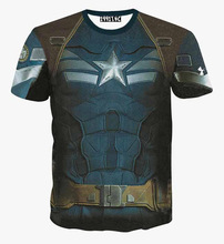 Summer t shirt men/boy 3d tshirt funny print Pentagram Armor creative personality short sleeve t-shirt tops