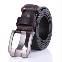 Men's Classic Alloy Pin Buckle Leather Belt