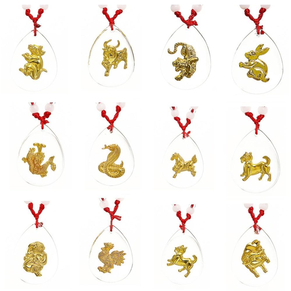 Schmuck & Zubehör Halsketten & Anhänger 12 Chinesische Zodiacs Tier Leucht Kragen Halskette Ratte/ox/tiger/kaninchen/drachen/schlange/pferd /ziege/affe/hund/schwein Schmuck #281374