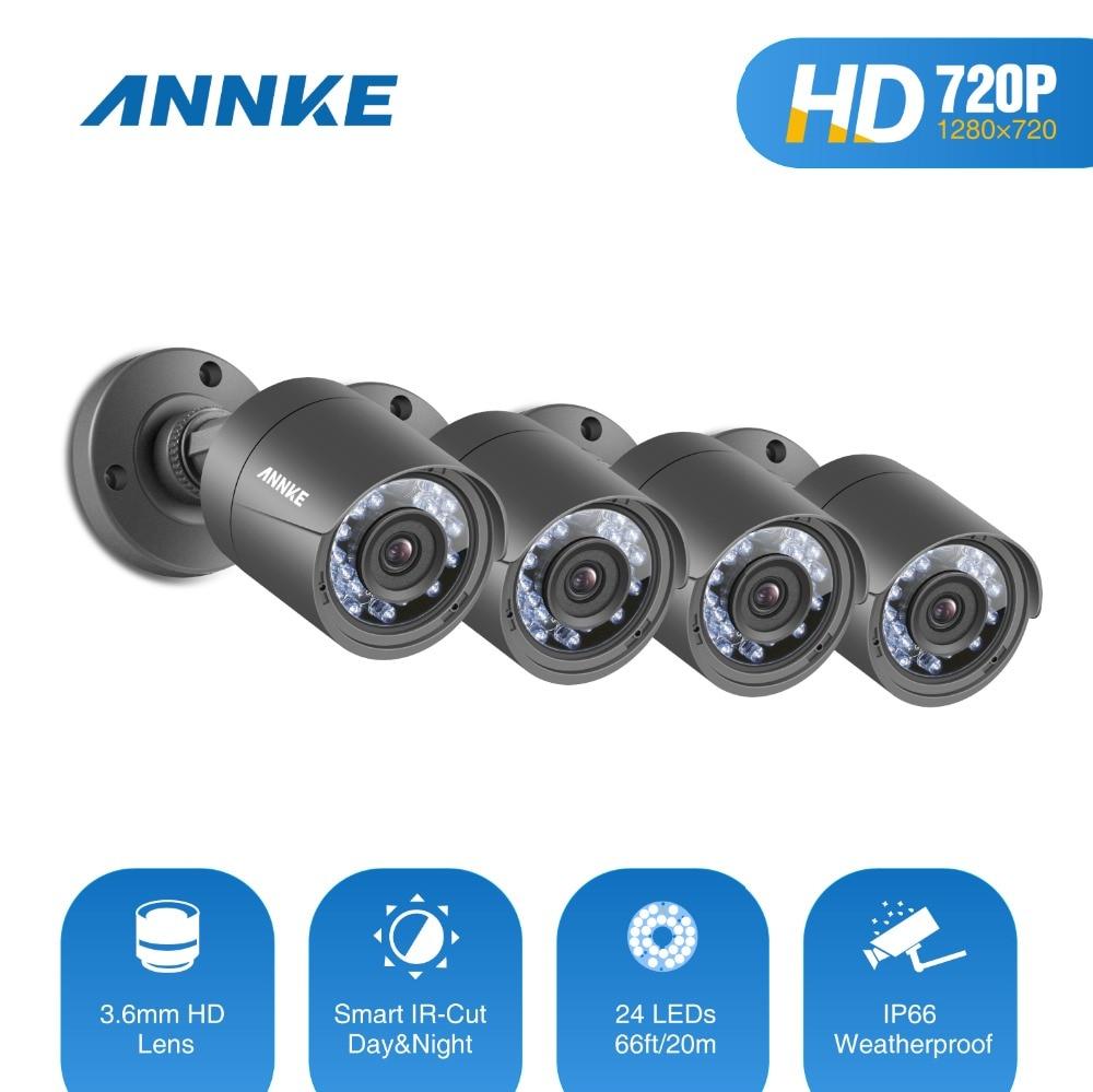 ANNKE HD 720P TVI CCTV Security Camera 4 outdoor video surveillance cameras Indoor/Outdoor IR cut Night Vision CCTV system Kit стоимость